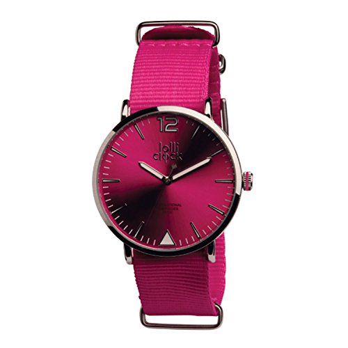 Women's Watch - Luminous Color-Dial Analog Round Face Watch - Magenta