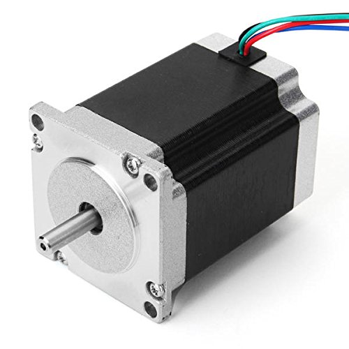 Stepper Motor - 3d Printer Stepper Motor - 57mm Two Phase Hybrid Stepper Motor 0.9 76mm 2.8A (Hybrid Stepper Motor) by Unknown