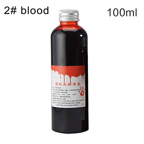 Good Jokes For Halloween (kitt Fake Blood Gel Tube Horror Fancy Dress Costume Halloween Party Joke Red Toll - 30ml, 60ml,100ml(Optional))
