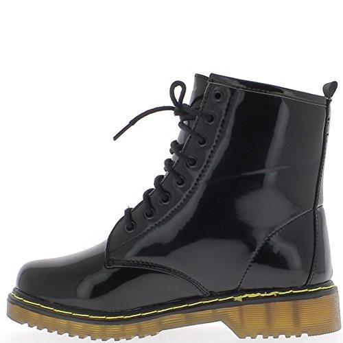 Botines Zapatos de Las Mujeres se duplicó a Tacón de Encaje 3cm - 37 AdN57U