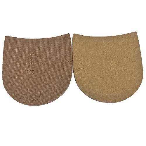 Schuh-Ersatz-Gummi-Halbsohle, Gummiplatte, Dicke und Farbe wählen, Packung mit 1 Paar Khaki