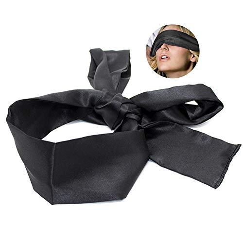 WZLPY Eye Mask Silk Fabrics Adult Bundling Games for Sexy Men and Women Fantasy Fetters Sexy Accessories. (Black)