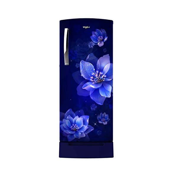 Whirlpool 200 L 4 Star Inverter Direct-Cool Single Door Refrigerator (215 ICEMAGIC PRO ROY 4S INV, Sapphire Mulia, Base… 2021 July Direct-cool refrigerator; 200 litres capacity. Energy Rating: 4 Star New crescent door Design