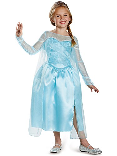Disney's Frozen Elsa Snow Queen Gown Classic Girls Costume, X-Small/3T-4T