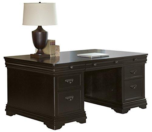 (Martin Furniture Beaumont Double Pedestal Desk - Fully Assembled)