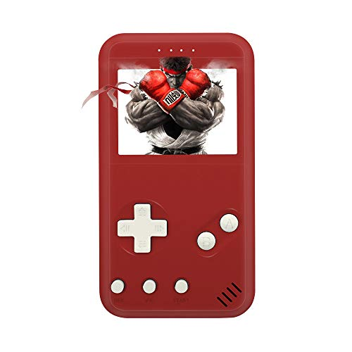 (xinguo Handheld Game Console, Portable Game Console 2.5 Inch Screen with 299 Classic Games, Retro Game Console Can Play on TV, Good Gifts for Children. (red))