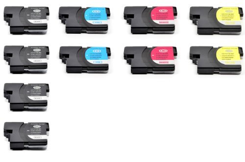 Generic  10 PK Compatible LC61 4pk LC61BK+ 2pk LC61C+2pk LC61M+2pk LC61Y Ink Cartridge Set For Brother Printers