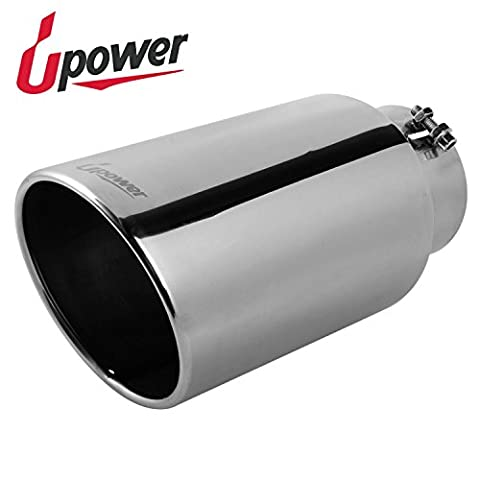 Upower Exhaust Tips Universal Stainless Steel Bolt-On 5