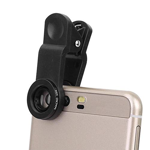 Vbestlife Wide Angle Lens,Cell Phone Lens Kit with 0.63X Wide Angle 10X Macro Lens 198 Degree Fish Eye for Phone, Flat Computer. (Telephoto Wide Angle Macro 10x Cpl Lens)