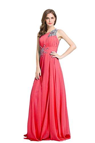 Hot Emily per Chiffon da lungo donna da di paillettes Pink vestiti spalle sera posate servizio Bellezza sulle HPdgZwxYqZ