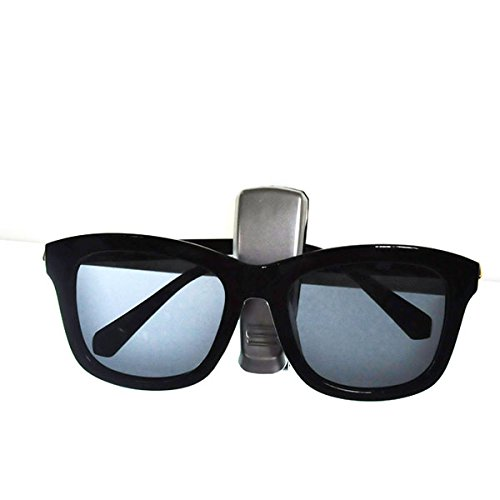 Foxnovo Portable Multi-functional Car Auto Vehicle Sun Visor Mount Eyeglasses Sunglasses Card Holder Clip Black 4326592306