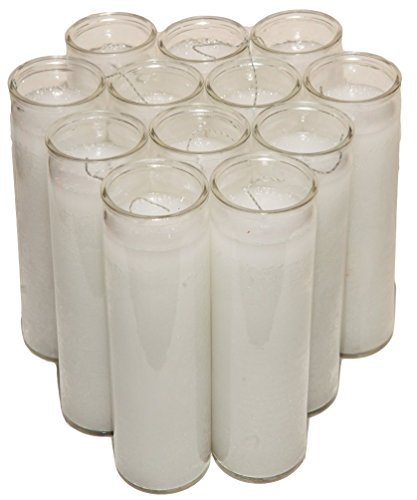 7 DAY Candle Vigil Candle Prayer Candle Novena Vigil Candles Devotional  Candles (12 Pack) (Pick Your Color) Holiday Candle Paraffin Wax (WHITE 7  DAY
