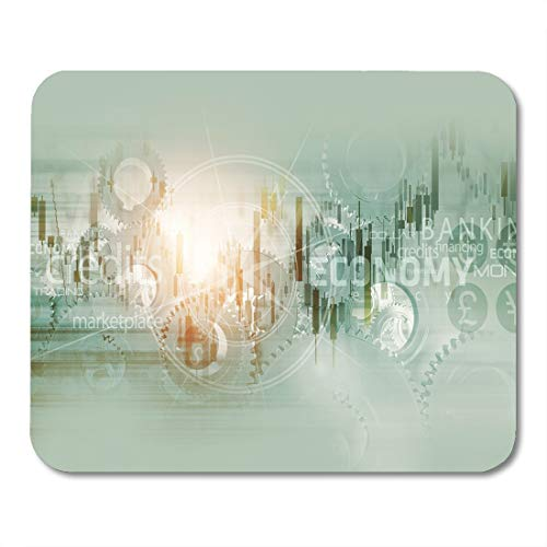 Emvency Mouse Pads Trade Global Economy Abstract World Mechanism Conceptual Trading Stats Mouse Pad for notebooks, Desktop Computers mats 9.5