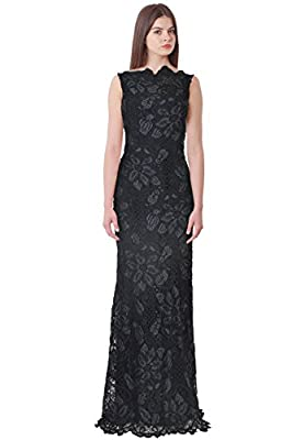 Anna Maier Couture Dionne Embroidered Lace Evening Gown Dress