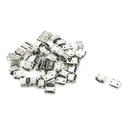 uxcell mobile phone pcb smt micro usb type b 5pin female
