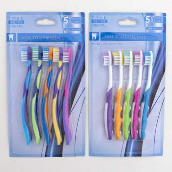 Toothbrush 5 pcs Kids 2 Assorted Age Groups 2-6 & 6+ HBA Blister, Case of 36