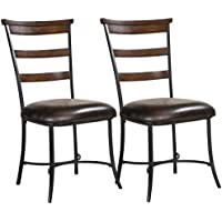 Hillsdale Furniture Cameron Ladder Back Dining Chairs, Chestnut Brown Finish, Set of 2