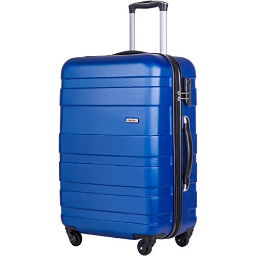 Merax Afuture 20 24 28 inch Luggage Lightweight Spinner Suitcase (24, Blue)