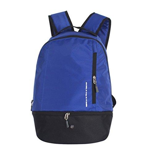 LOVEHIKE Lightweight Sports Athletic Backpack Shoulder bag for Team Soccer Ball Basketball Volleyball Football Baseball Dark Blue
