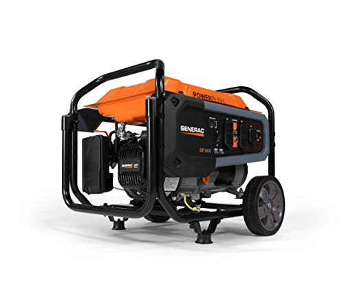 Generac 7678 GP3600 Portable Generator, Orange, Black