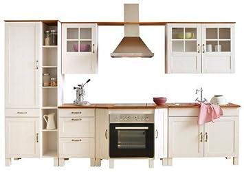 Landhaus-Küche »Alby« (7-tlg.) natur Ohne Elektrogeräte: Amazon.de ... | {Landhaus küchenzeile mit elektrogeräten 32}