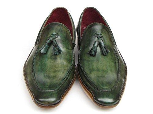 Paul PARKMAN hommes de côté cousue à la main avec Flâneur Chaussures VERT (ID # 082) KhdHpH9agX