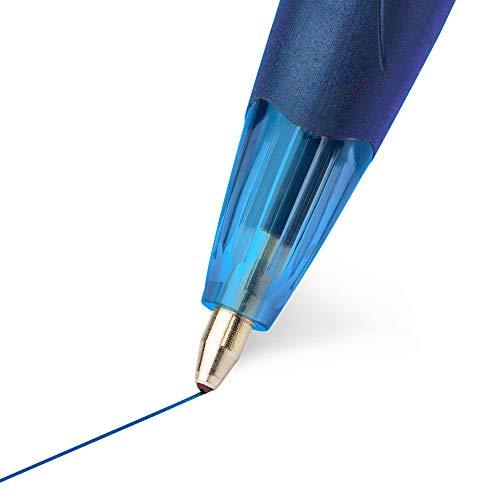 BIC Atlantis Original Retractable Ball Pen, Medium Point (1.0 mm), Blue, 12-Count