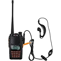 Proster BF UV-6R Walkie Talkies Dual Band FM Transceiver LCD Two-way Radios VHF UHF 136-174 400-520MHz Up to 128 Channels Built-in VOX Function with LED Flashlight
