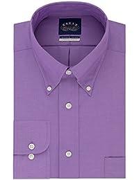 Men's Non Iron Stretch Collar Regular Fit Solid Dress Shirt