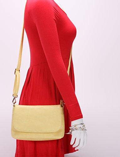 Custard Womens body Chic Purse Evening Cross MoDA Handbag 10qAwwS