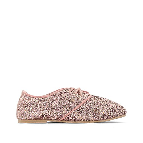 La Redoute Collections Big Girls Glitter Brogues, 26-39 Gold-coloured/Pink