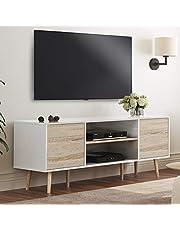 WAMPAT Mid-Century Modern Wood Furniture TV Stand