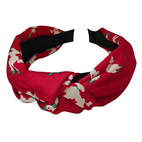 (Adjustable Headbands for Women Knot Floral Print Hairbands Girl Wide Hair Band Hair Accessories)
