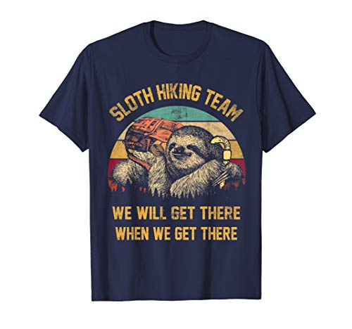 Sloth Hiking Team Tshirt vintage Gift for Hiker Lover Sloth ()