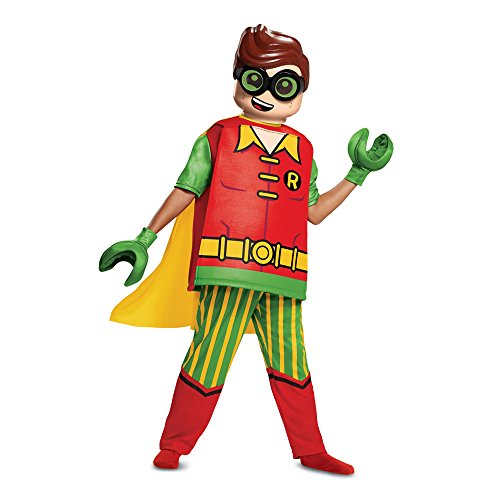 Disguise Robin Deluxe Child Costume, Red, Large/(10-12) -