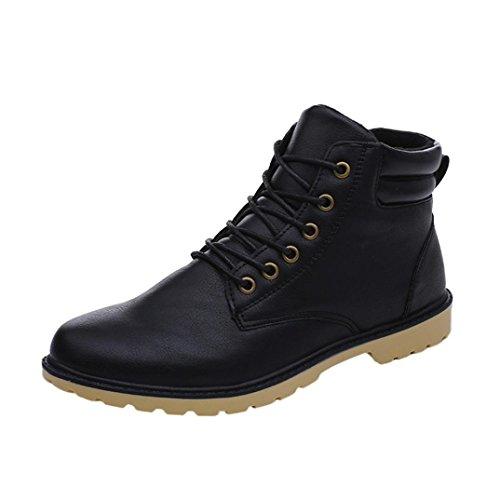 43 Stivaletti Uomo Asia Caviglia Uomo Pelle UOMOGO Moda Stivali Inverno Classici Nero Martin Impermeabile Stringate Boot qgwx6