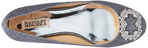 North Ballet Mischka Badgley Pewter Flat Women's aAq1p