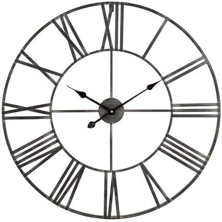 Laurel Foundry Modern Farmhouse Oversized Eisenhauer 30″ Wall Clock