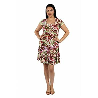 24/7 Comfort Apparel Bella Sera Plus Size DressP6012GDA-3XL