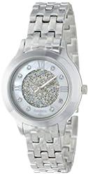 Armitron Women's 75/5174MPSV Swarovski Crystal Accented Silver-Tone Bracelet Watch