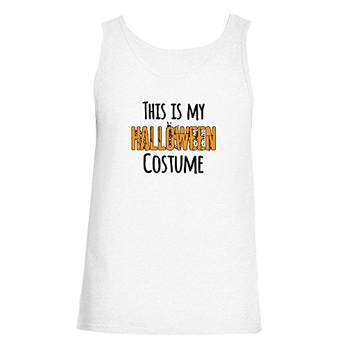 [This Is My Halloween Costume White S Mens Tank Top by Pop Threads] (1980's Costume Party City)