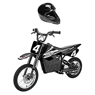 Razor MX650 Steel Electric Dirt Rocket Motor Bike for Teens w/Full Face Helmet