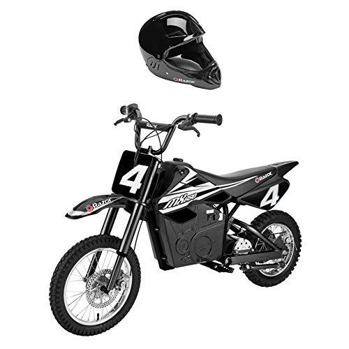 Razor MX650 Steel Electric Dirt Rocket Motor Bike for Teens w/Full Face Helmet