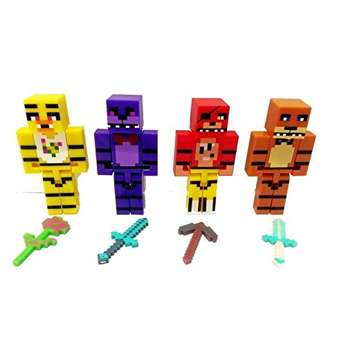 Minecraft mini series figure new Hot 4pcs/set Action Figures Toys Superhero
