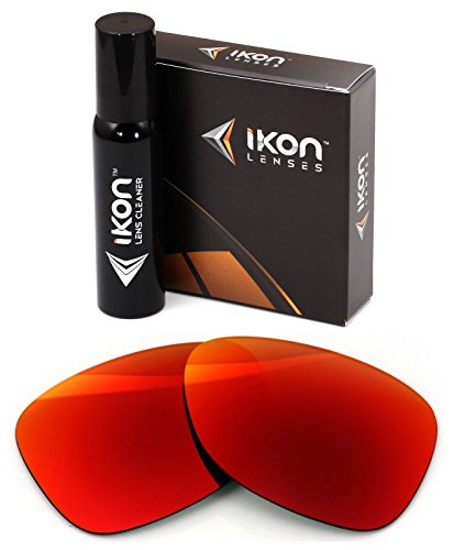 Polarized Ikon Iridium Replacement Lenses For Oakley Dispatch 2 Sunglasses - + Red - Replacement Oakley 2 Lenses Dispatch
