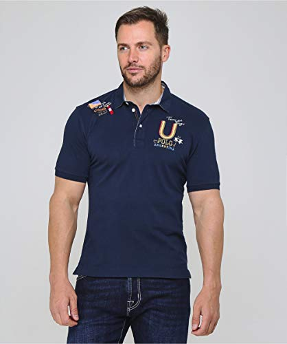 Polo Martina La Brandon Pique Shirt Navy Men's 7SqdaqI