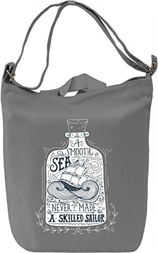Smooth sea Borsa Giornaliera Canvas Canvas Day Bag| 100% Premium Cotton Canvas| DTG Printing|