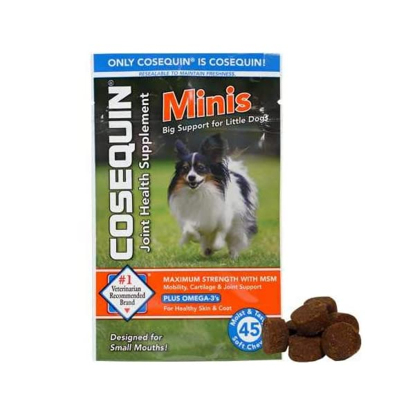 Cosequin Minis Soft Chews Maximum Strength with MSM Plus Omega3 (45 Count)