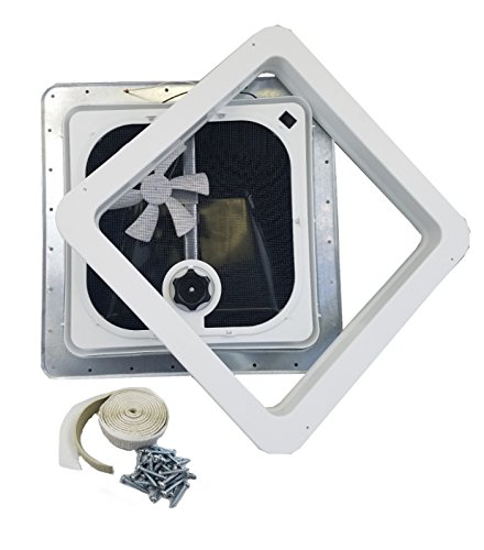 Ventline RV Roof Vent Smoke w/ 12 Volt Fan, Putty & Screws (Vent Roof Ventadome)