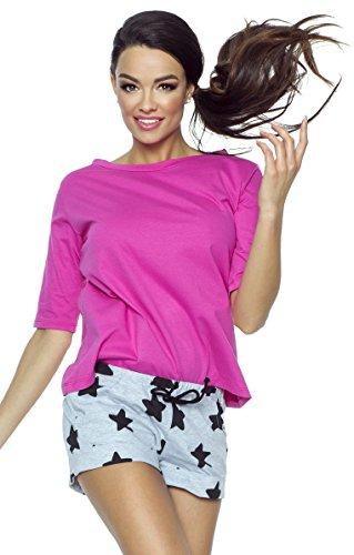 zarten aus Shirt violett Shorty und Gr charmantes niedlichem PIGEON S Lingerie Set Shorts yaYIxBw8q8